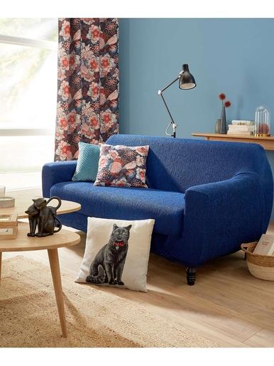 Housse canapé universelle 2 ou 3 places - Carré d'azur - Bleu