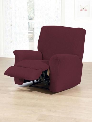 Housse intégrale fauteuil de relaxation - Carré d'azur - Bleu