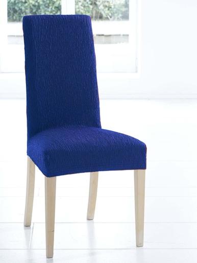 Housse intégrale de chaise - Carré d'azur - Bleu