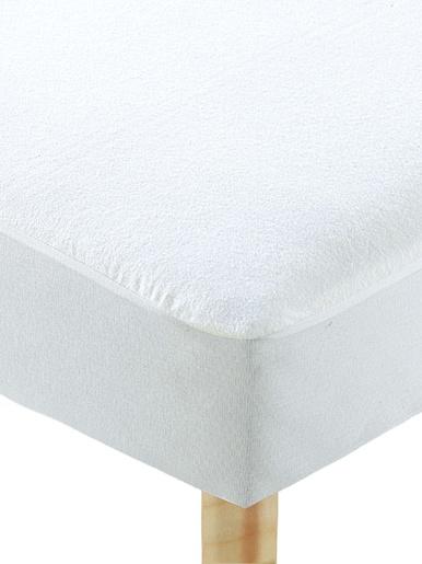 Protège-matelas imperméable bonnets 30cm - Carré d'azur - Blanc