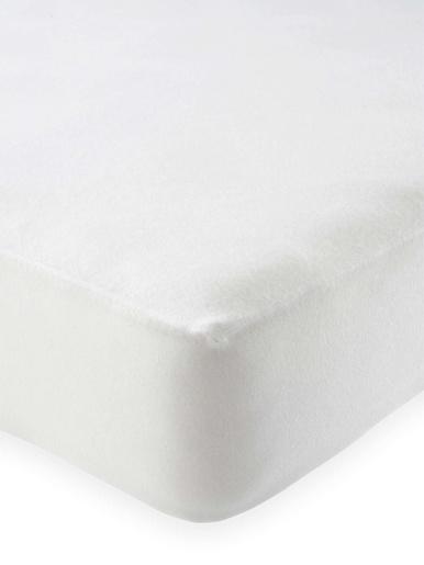 Protège-matelas molleton imperméable - Carré d'azur - Blanc