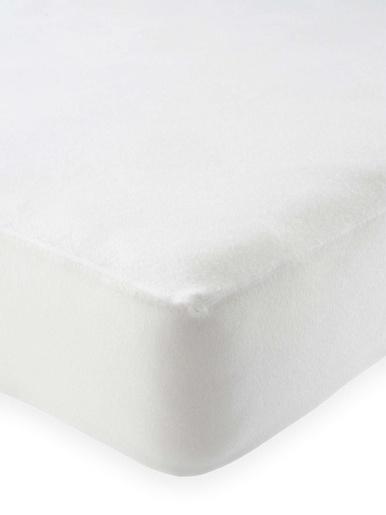 Protège-matelas absorbant forme housse - Carré d'azur - Blanc