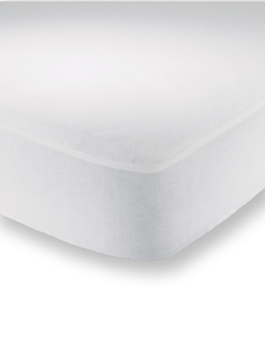 Protège-matelas housse antibactérien - Carré d'azur - Blanc