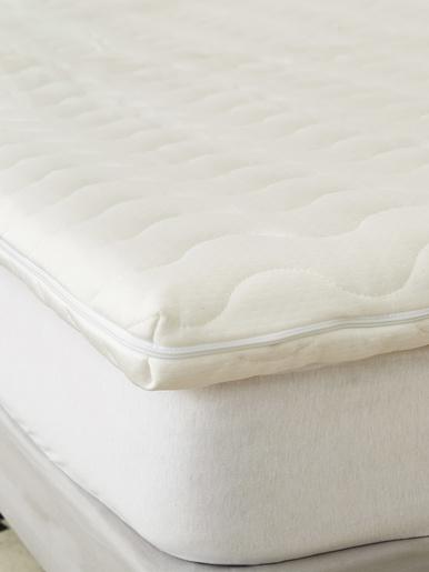 Surmatelas mémoire de forme épaiss 5cm - Carré d'azur - Blanc