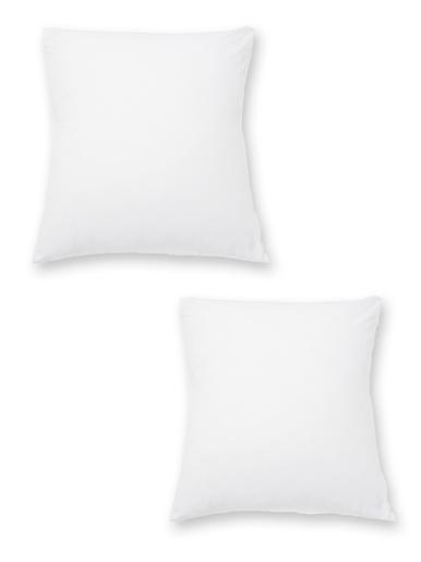 Sous-taies lot de 2 pur coton - Carré d'azur - Blanc