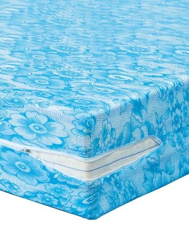 Housse en maille matelas de 15 à 20cm - Carré d'azur - Imprimé bleu