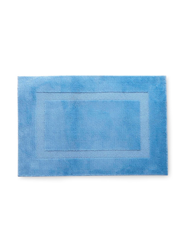 Tapis de salle de bain antidérapant - Carré d'azur - Bleu
