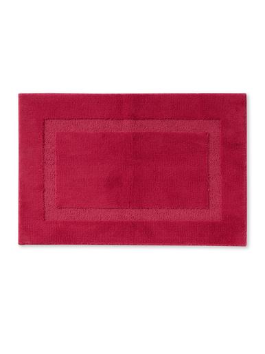 Tapis de salle de bain antidérapant - Carré d'azur - Fuchsia