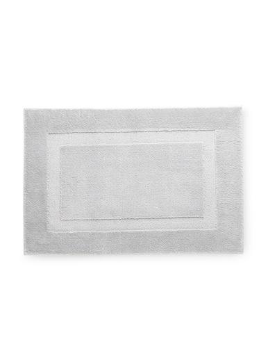 Tapis de salle de bain antidérapant - Carré d'azur - Gris