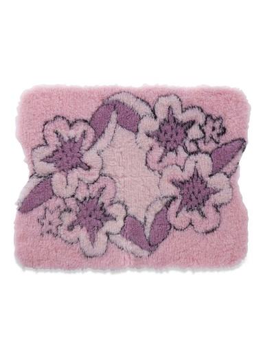 Tapis de bain fleuri envers antidérapant - Carré d'azur - Rose