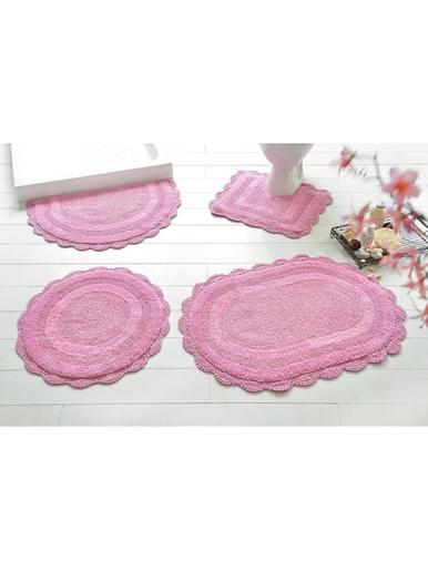 Tapis de bain Crochet - Becquet - Rose