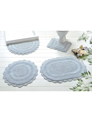 Tapis de bain Crochet - Becquet - Gris