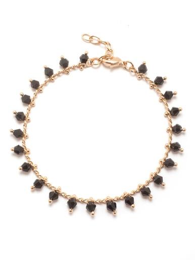 Bracelet avec pierres bleues plaqué or