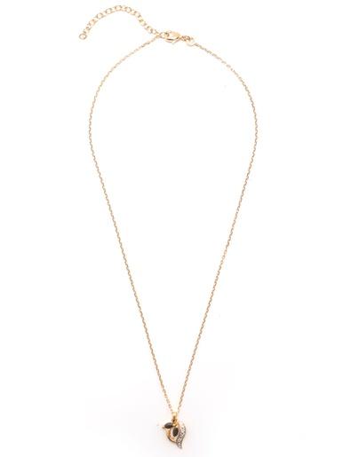 Pendentif saphir chaîne 45cm plaqué or - Balsamik - Plaqué or