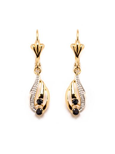 Boucles d'oreilles saphirs véritables - Balsamik - Plaqué or