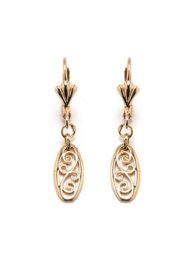 Boucles d'oreilles filigranées plaqué or - Balsamik - Plaqué or