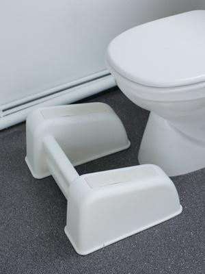 Repose-pieds pour WC