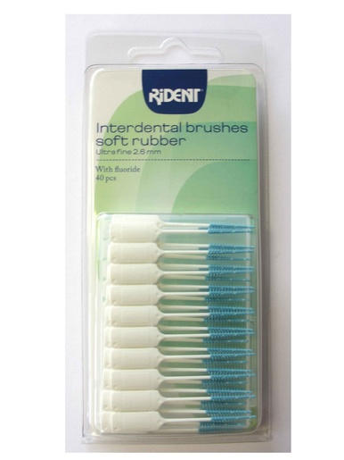 Lot 40 brosses interdentaires au fluor -  - Blanc/bleu