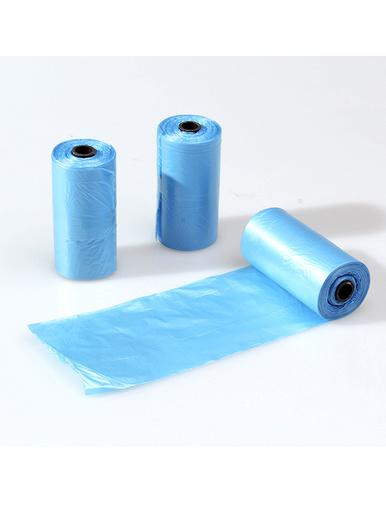 Recharges sacs poubelle, 3 rouleaux -  - Bleu
