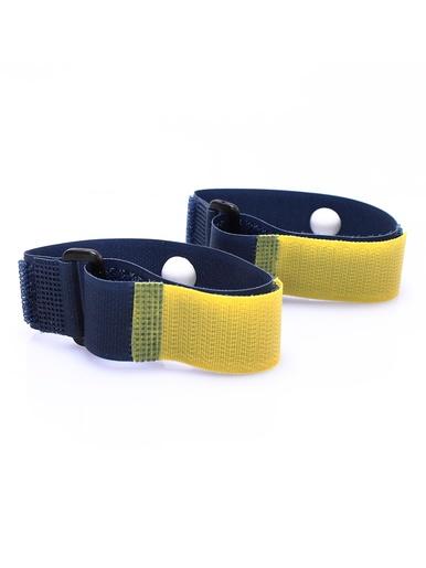 Lot de 2 bracelets anti maux de voyage -  - Noir et jaune