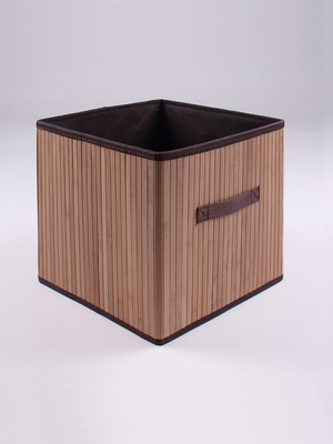 Cube de rangement pliable en bambou