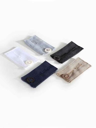 Lot 5 élargisseurs pantalon avec bouton -  - Multicolore