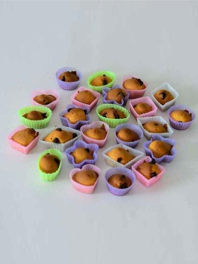 Moules en silicone, lot de 24 -  - Multicolore