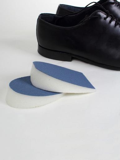 Talonnettes à mémoire de forme, homme -  - Bleu/blanc