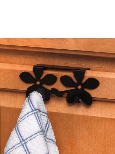 Double crochet à torchon pour tiroir -  - Noir
