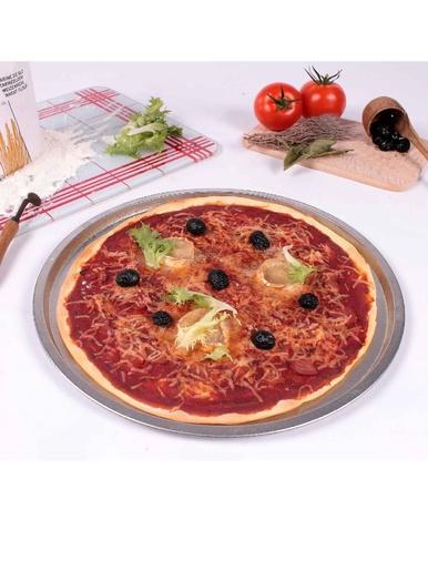 Moule à pizza, diamètre 33 cm -  - Fer blanc
