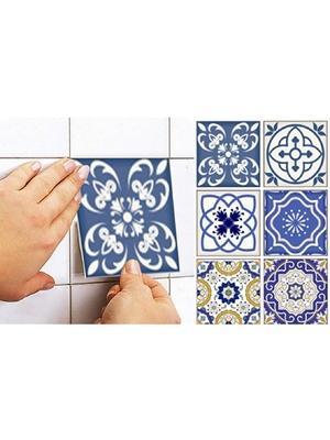 Lot de 12 stickers Carrelage arabesques