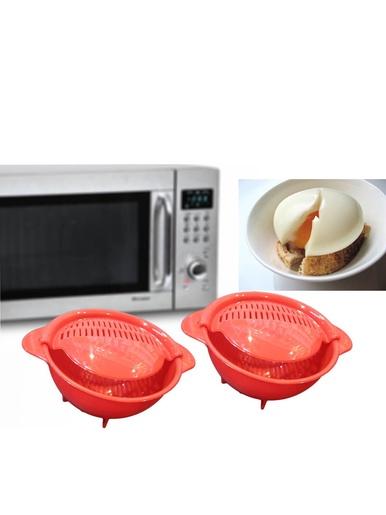 Lot 2 cuit-oeufs pochés pour micro-ondes -  -