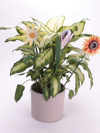 Lot de 3 fleurs en métal - Casâme - Multicolore