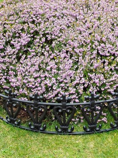 Lot de 6 barrières de jardin arrondies - Casâme - Noir