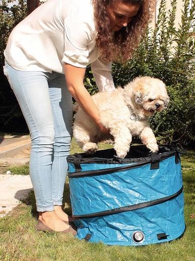 Bac de lavage pliant pour animaux - Casâme - Bleu