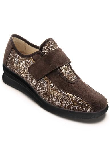 Derbies spécial pieds sensibles - Pédiconfort - Imprimé marron