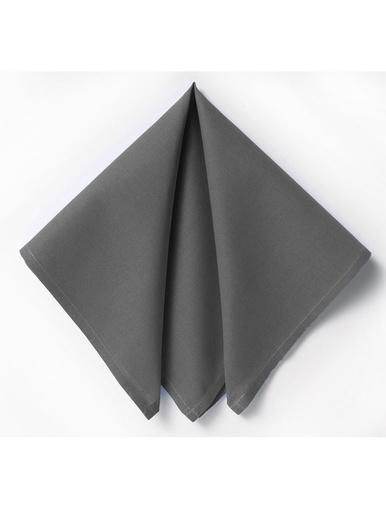Lot de 6 serviettes de table Dona - Becquet - Gris anthracite