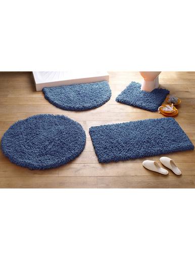Tapis de bain Confort pur coton - Becquet - Bleu outremer