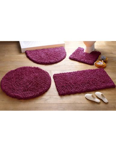 Tapis de bain Confort pur coton - Becquet - Violet prune