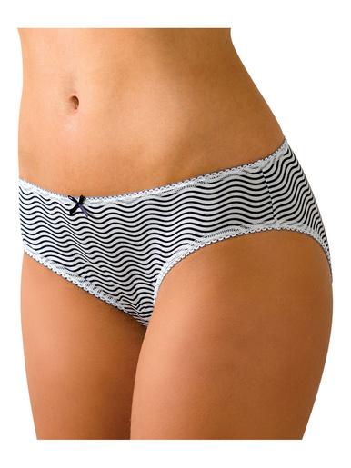 Lot de 3 slips coton Secret de Beauté - Athéna - Pois-blanc-vague