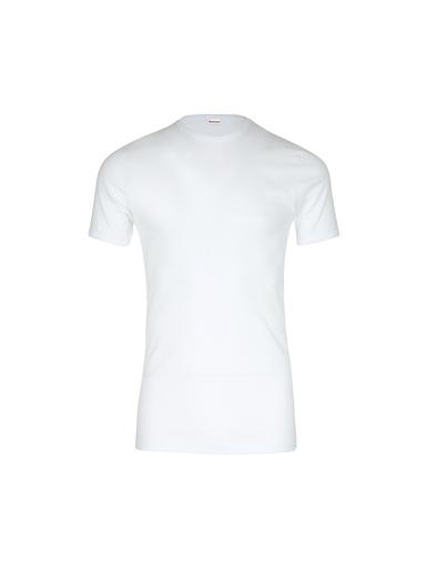 Tee-shirt encolure ronde, pur coton - Eminence - Blanc