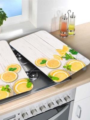 Lot de 2 couvre-plaques citrons