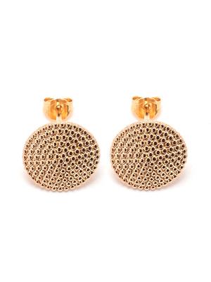 Boucles d'oreilles rondes en plaqué or