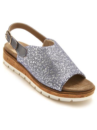 Sandales extensibles aérosemelle lavable - Pédiconfort - Marine