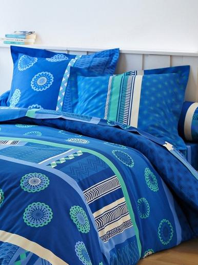 Taie d'oreiller ou de traversin Zazy - Colombine - Bleu