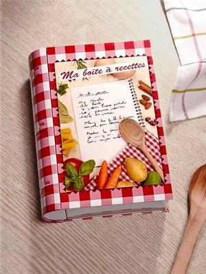 Boîte à recettes forme livre Elicuisine