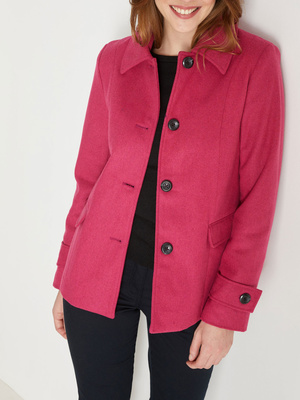 Manteau court 11% laine