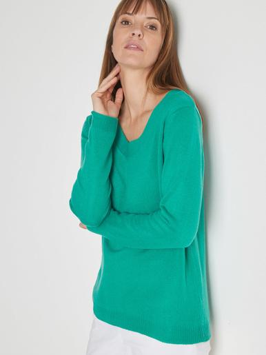 Pull encolure V manches longues - Kocoon - Vert vif