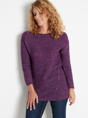 Pull tunique encolure ronde