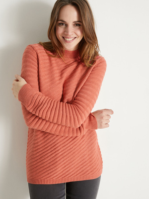 Pull col montant 10% laine